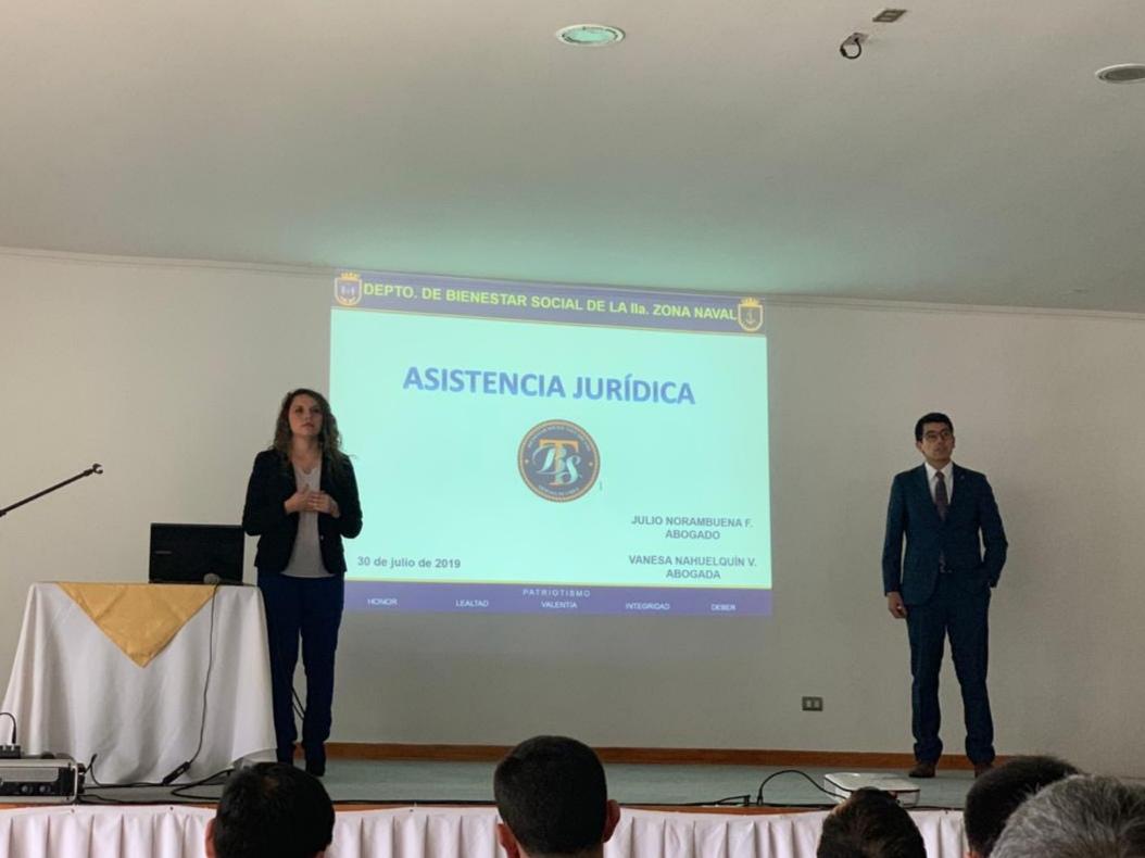 EXPOSICIÓN SOBRE LAS PRESTACIONES DE LA ASISTENCIA JURÍDICA DEL DEPARTAMENTO DE BIENESTAR SOCIAL DE LA IIA. ZONA NAVAL.